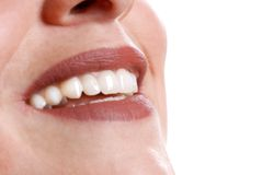 Close-up of lips Royalty Free Stock Images