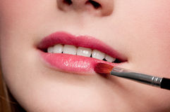 Close-up lips of beauty young woman Stock Image
