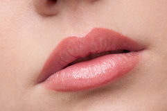 Close-up lips make-up zone Royalty Free Stock Images