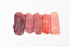 Close up of lipstick smear sample Stock Photos
