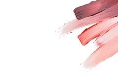 Close up of lipstick smear sample Stock Photo
