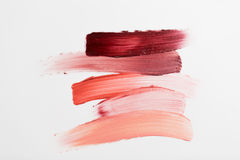 Close up of lipstick smear sample Royalty Free Stock Photography