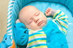 Close up  little baby sleeping Royalty Free Stock Photo