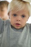 Close up of Little Blonde Boy Stock Photos