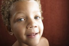 Close up of a little boy Royalty Free Stock Photos