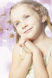 Close up of little cute blond girl smiling Stock Photography