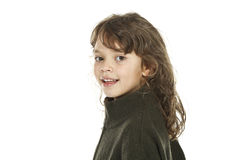 Close-up of little girl Stock Images