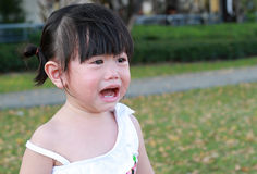 Close-up little girl crying Stock Photos