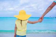 Close up of little girl holding her father hand Royalty Free Stock Photos