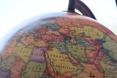 Close up of little globe. Nchina map globe asia cartography antique chinese Royalty Free Stock Image