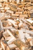 Logs on a lumber yard Royalty Free Stock Photos