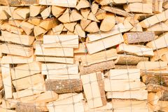 Logs on a lumber yard Royalty Free Stock Photography