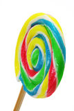 Close up of lollipop (swirl pop). On white background Royalty Free Stock Photos