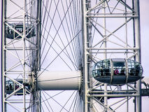 Close-up of London Eye. Close-up of a cabine of London Eye Royalty Free Stock Image