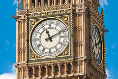 Close up of the London's Big Ben. Close up of the London's famous landmark - the Big Ben, at Palace of Westminster in London, UK Stock Image