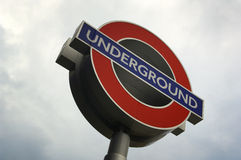 Close up of a London UNDRGROUND sign royalty free stock images