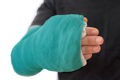 Close up of a long arm cast Royalty Free Stock Photography