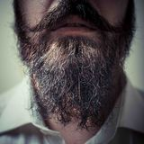 Close up of long beard and mustache Stock Photo