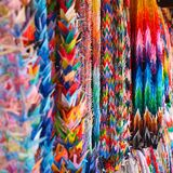 Colorful origami at a temple in Japan stock photo