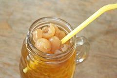 Longan juice Nam lamyai stock image