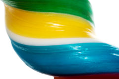 Close up on longitudinal and colorful lollipop. Stock Photography