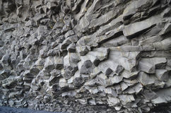 A Close Up Look at the Basalt Columns in Iceland Stock Images