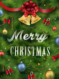 Close-up look at Christmas tree Stock Image