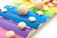 Close up look of colorful xylophone Royalty Free Stock Images