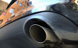 Close-up look of exhaust pipe. Close-up look of clean exhaust pipe Royalty Free Stock Photo