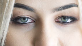 Close up look of eyes stock footage