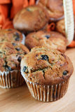 Close up look at fresh blueberry muffins Royalty Free Stock Photography