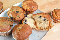 Close up look at fresh blueberry muffins Stock Photo