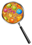 Close up look of germs Royalty Free Stock Image