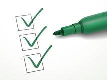 Close-up look at green pen Royalty Free Stock Photos