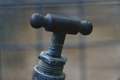 Top part of iron tap faucet royalty free stock image