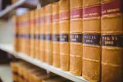Close up of a lot of law reports. In library Stock Photography