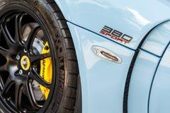 Close up of a Lotus 380 Sport Royalty Free Stock Photos