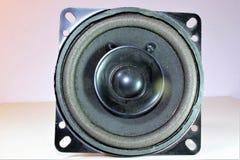 Close-up loudspeaker. Close-up of a loudspeaker stock photo
