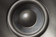 Close up of loudspeaker. Box stock images