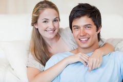 Close up of a lovely couple posing Royalty Free Stock Photos