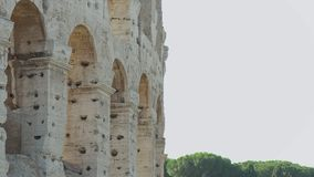 Close-up  Side-view | Colosseum Arches, Rome stock footage