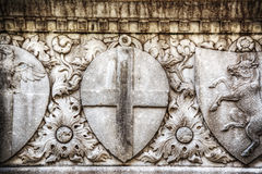 Close up of low relief in Santa Croce Stock Image
