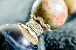 Close up lucky stone gem for the gamble on background Royalty Free Stock Photography