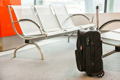 Close up of luggage (suitcase, baggage ) at the airport. Stock Photos