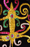 Close up on Lundayeh beading pattern. Stock Photos