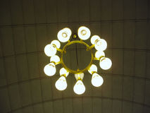 Close up of lustre on ceiling Royalty Free Stock Images