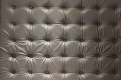 Close up  luxury buttoned leather. Royalty Free Stock Image