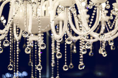 Close-up of Luxury chrystal chandelier stock images
