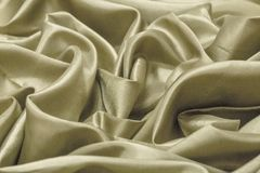Close up of the luxury Cream cloth or liquid wave or wavy folds Royalty Free Stock Photography