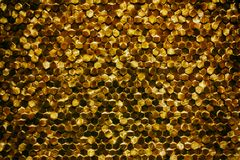 A close-up of a luxury golden wall decoration pattern Royalty Free Stock Photography